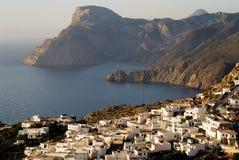 Insel Griechenlands Karapathos Mesohori-Dorf Stockfotos
