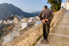 Insel Griechenlands Karapthos früher Morgen Olympos-Sonnenaufgangs Lizenzfreies Stockbild