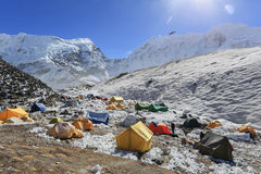 Insel Höchst-basecamp von Everest-Wanderung Nepal Stockfotos