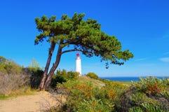 Insel Hiddensee, der Dornbusch-Leuchtturm stockfoto