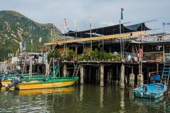 Insel Hong Kong Pfahlhäuser Tai O Lantau Stockbild