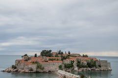 Insel-Hotel Sveti Stefan Stockfotos
