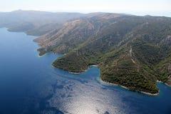 Insel Hvar von der Luft Stockfotografie
