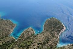 Insel Hvar von der Luft Lizenzfreie Stockfotos