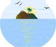 Insel im fishbowl Stockfoto