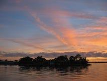 Insel im Himmel Stockbilder