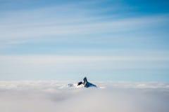 Insel im Himmel Stockbild