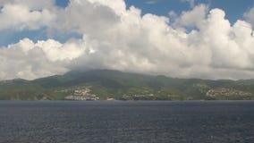 Insel im karibischen Meer Fort-de-France, Martinique stock video