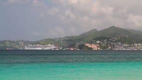 Insel im karibischen Meer St- George` s, Grenada stock video