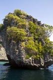 Insel im Meer stockbild