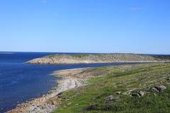 Insel im Meer Stockfotografie