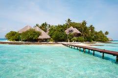 Insel im Ozean. Lizenzfreies Stockbild