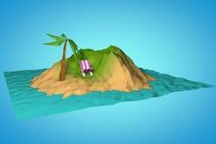 Insel im Ozean Lizenzfreie Abbildung