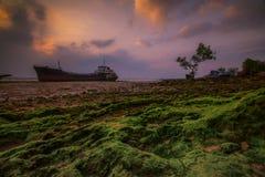 Insel Indonesien Asien Wonderfull Sunset3 Batam Lizenzfreie Stockfotografie