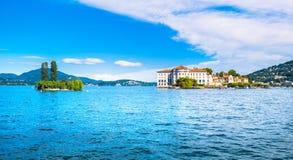 Insel Isola Bella im Maggiore See, Borromean-Inseln, Stresa P Lizenzfreie Stockfotografie