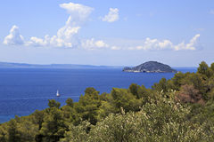 Insel Kelyfos (Schildkröte) im Ägäischen Meer Lizenzfreies Stockbild