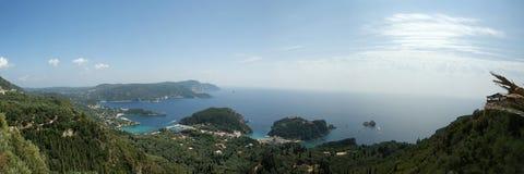 Insel Korfu, eine Art auf Paleokastritsu Stockbilder