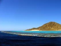 Insel, Lagune und Riff Stockfotos