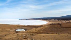 Insel-Landschaft-timelapse des Baikalsees Olkhon stock video