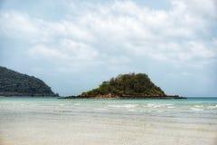 Insel, Meer und Himmel Stockfoto