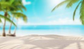 Insel mit den Palmen, holyday Lizenzfreie Stockfotografie