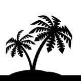 Insel mit Palmen. Stockbild
