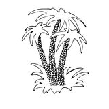 Insel mit Palmen vektor abbildung