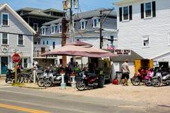 Insel-Moped-Mieten -- Block-Insel, RI Stockbilder