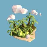 Insel-niedriger Polygeometrie-Vektor lizenzfreie stockfotos
