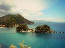 Insel Parga Panagia Stockbild
