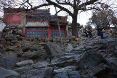 Insel-Park Beihais Qionghua von alten Gebäuden Lizenzfreie Stockfotografie