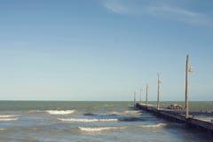 Insel-Pier stockfoto
