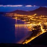 Insel Porto-Santo bis zum Nacht Lizenzfreies Stockfoto
