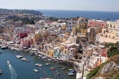 Insel procida, Neapel, es Lizenzfreie Stockfotos