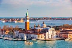Insel San-Giorgio Maggiore, Venedig Stockfotos