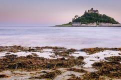 Insel-Schloss-Ozean-Meerespflanze Lizenzfreies Stockbild