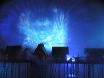 Insel SENTOSA, Singapur, Laser-Erscheinen Stockfotografie