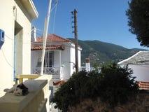 Insel skopelos in Griechenland lizenzfreie stockfotos