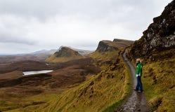 Insel Skye des Wanderns Stockbild