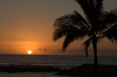 Insel-Sonnenuntergang Lizenzfreie Stockbilder