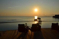 Insel-Sonnenuntergang Stockfoto