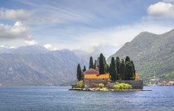 Insel Str Perast, Montenegro Stockfoto
