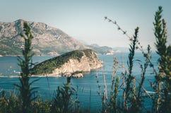 Insel Sveti Nikola, Budva, Montenegro stockfotografie