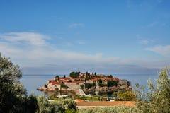 Insel Sveti Stefan - Montenegro Stockfotografie