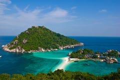 Insel und Meer Stockbild