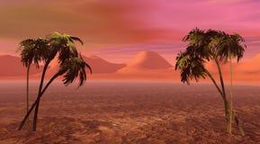 Insel und Palme zwei lizenzfreie abbildung