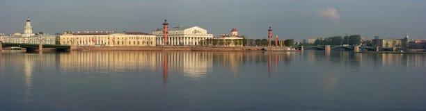 Insel Vasileevsky und Gebäude eines auf lagerexchang Lizenzfreie Stockfotografie