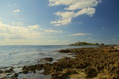 Insel von Aucanada-Leuchtturm Lizenzfreie Stockfotografie