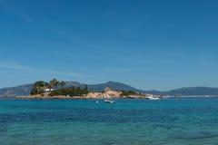 Insel von Castagna, Korsika, Frankreich Lizenzfreie Stockfotografie