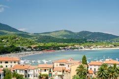 Insel von Elba, Marina di Campo stockfoto